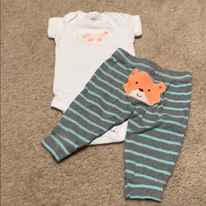 🌈4/$25🌈 Carter's Fox Outfit